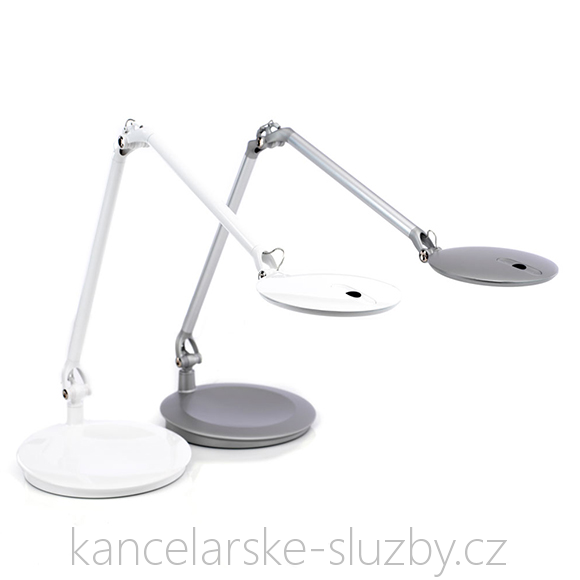 Stolní LED lampa Humanscale Element Disc LED Light ECUBS - stříbrná