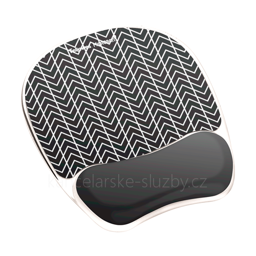 Gelová podložka pod myš - Fellowes Photo Gel Black Chevron