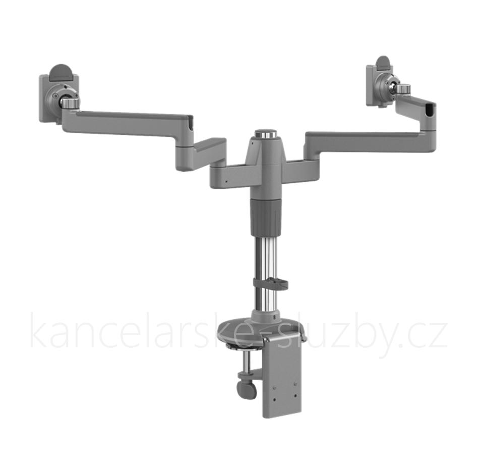 1559bd0d89 Humanscale MF8 držák pro dva těžké displeje upevnění na svěrku - stříbrná