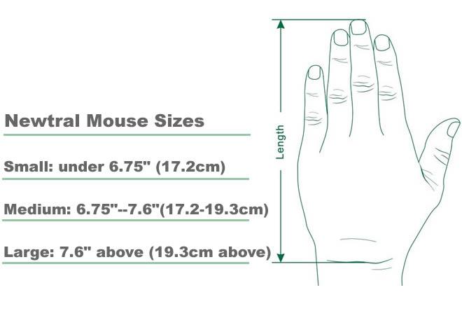 Určení velikosti myši Newtral 3